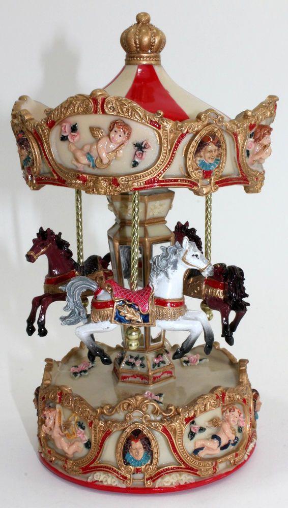 Horses Carousel Music Box