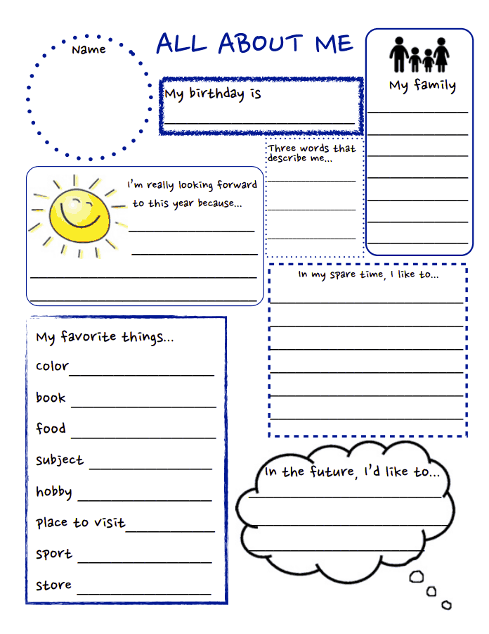 all about me.pdf | school stuff | Pinterest | Pdf, School and ...