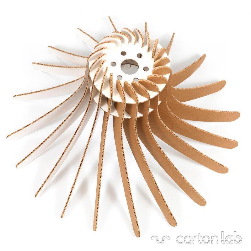 lámpara ecológica fabricada en cartón