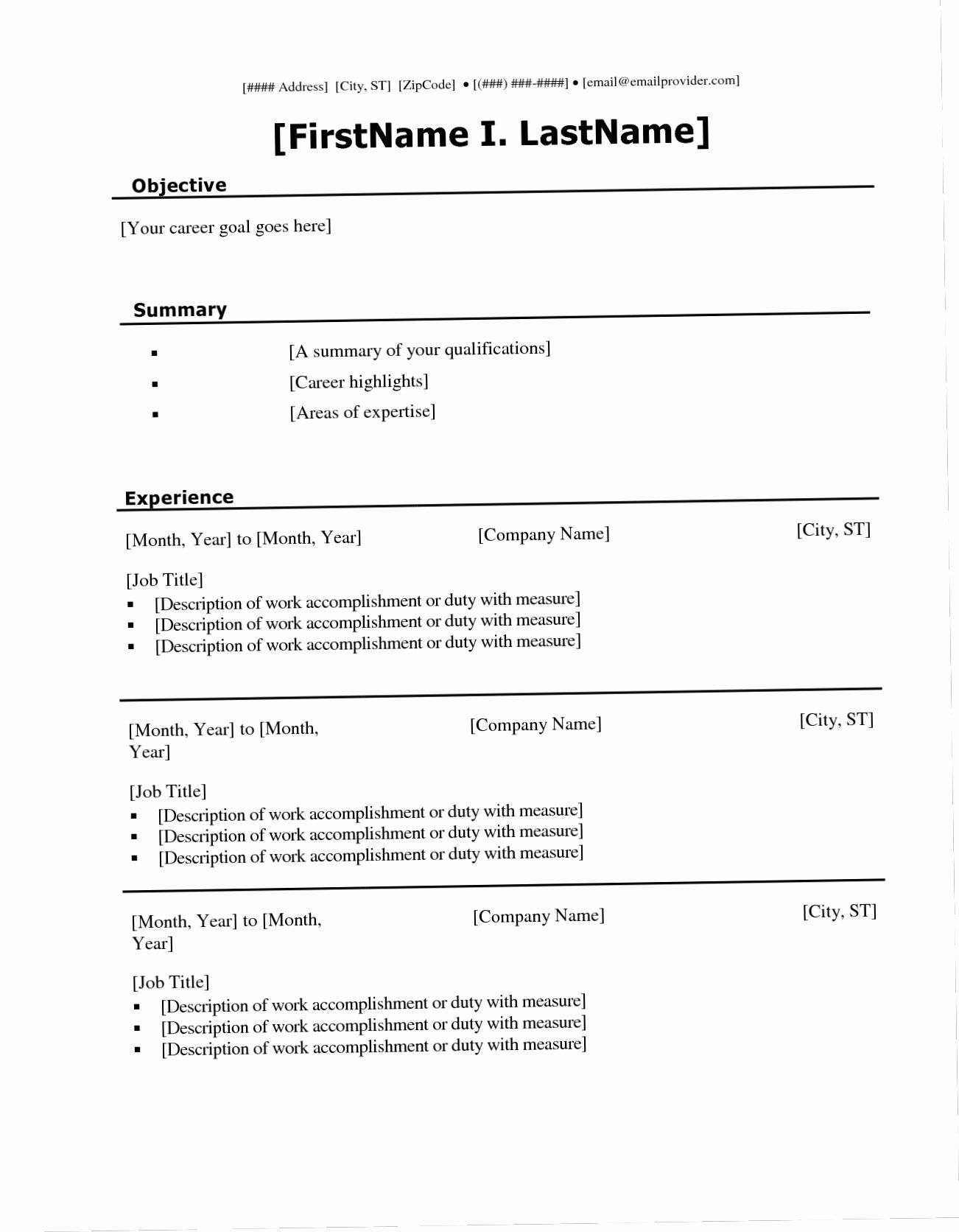 030 Student Resume Templates Microsoft Word Fill Ine with
