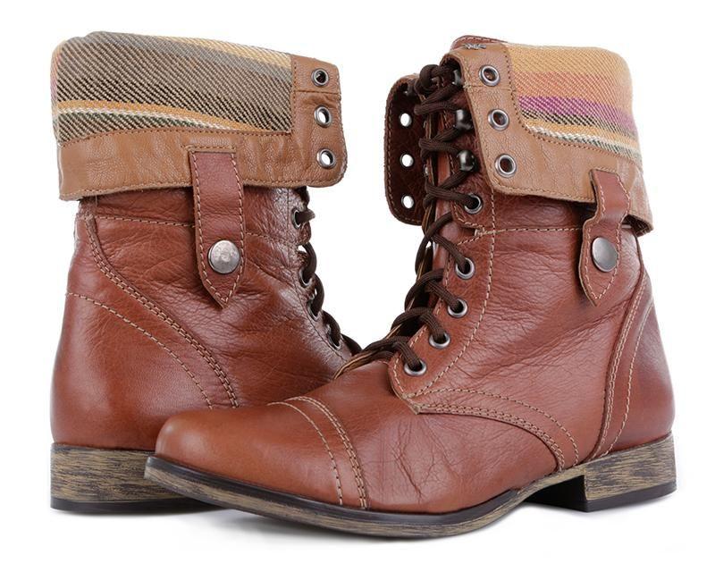 Bota Frida Caramelo Botas De Combate Zapatos Mujer Botas Timberland