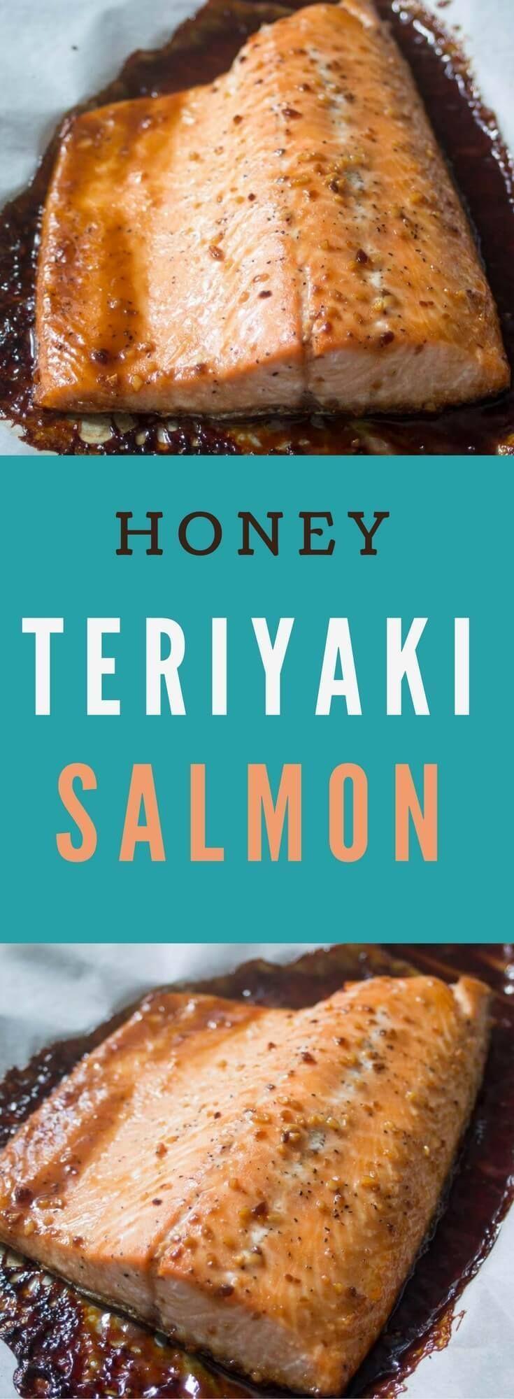 Honey Teriyaki Salmon #teriyakisalmon
