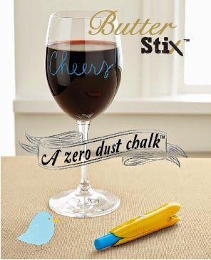 Wine and dine with ButterStix chalks.. Love how it writes on plates and glass!