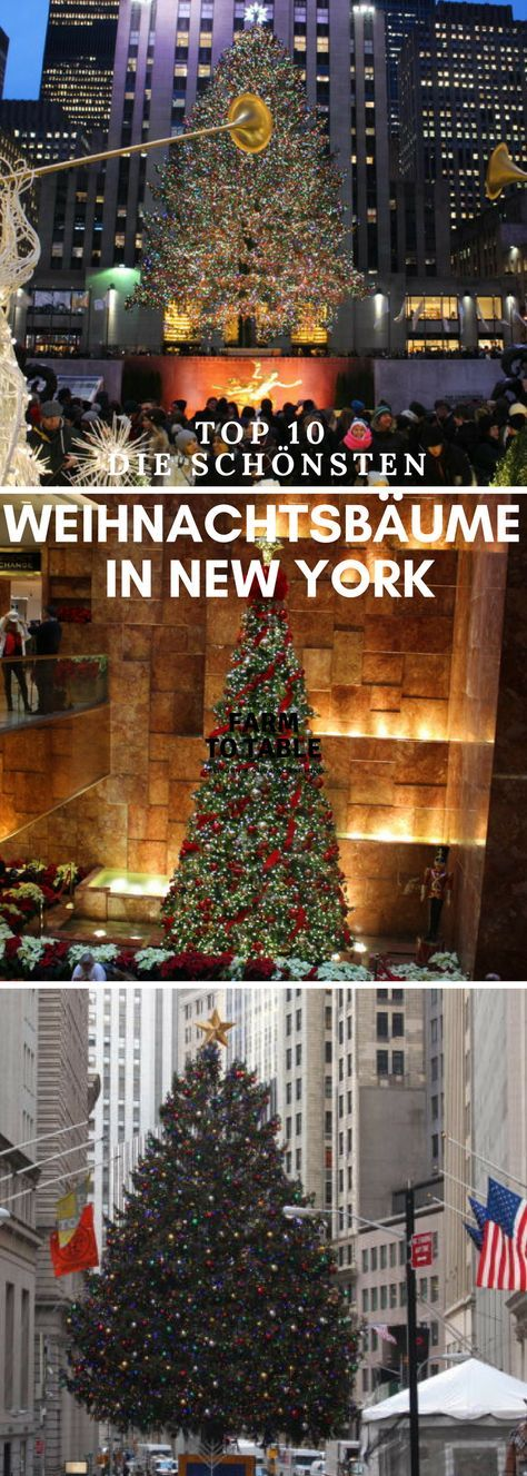 Top 10 - Die schönsten Weihnachtsbäume in New York