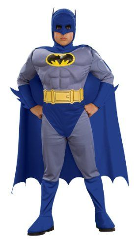 Boys DC Comics Batman 4-Piece Costume Dress Up Halloween Size Large 10-12