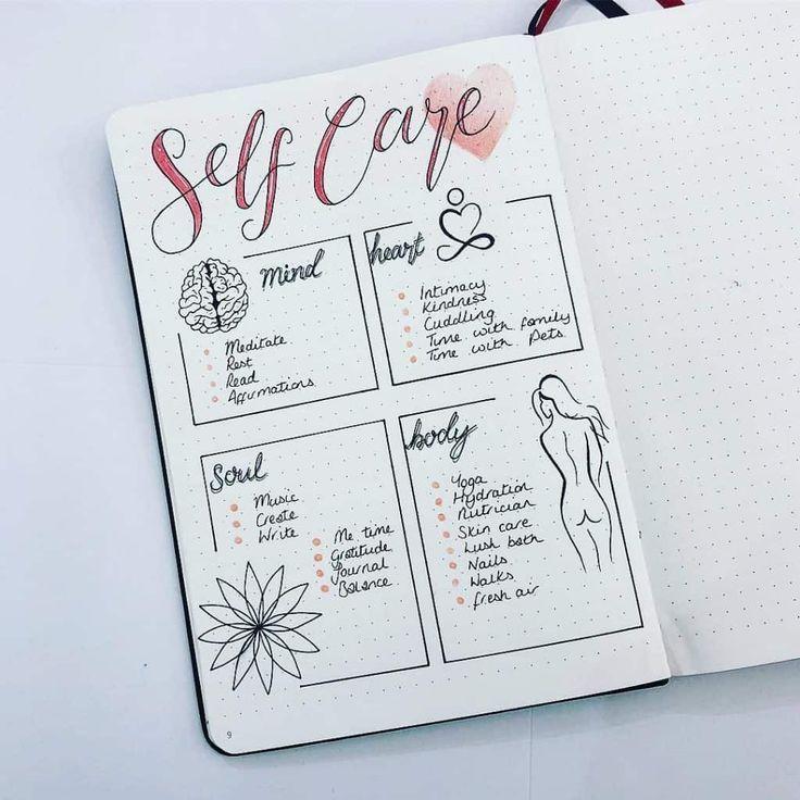 Ideen für Self-Care-Tagebücher - Bilder+ Blog #self-care