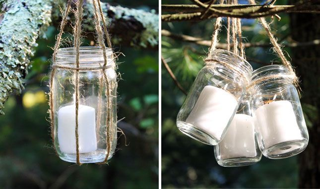 Hanging Jar Lanterns Created For A Wedding In The Woods All You Need Is