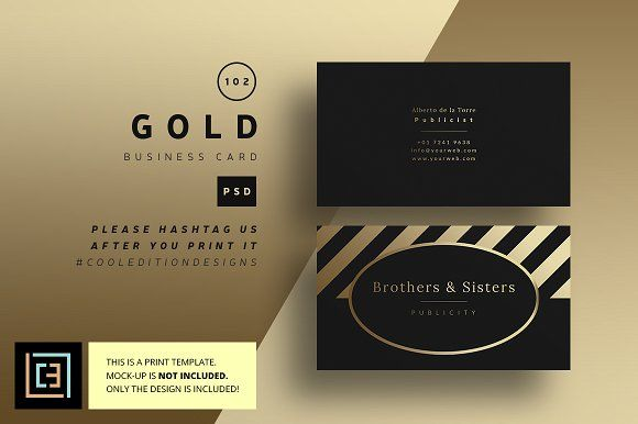 Gold business card 102 business cards unique business cards and gold business card 102 free printable reheart Choice Image