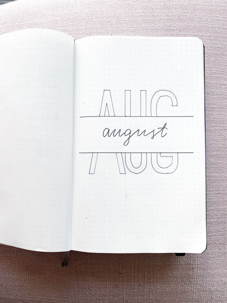 August Bullet Journal Cover #augustbulletjournal