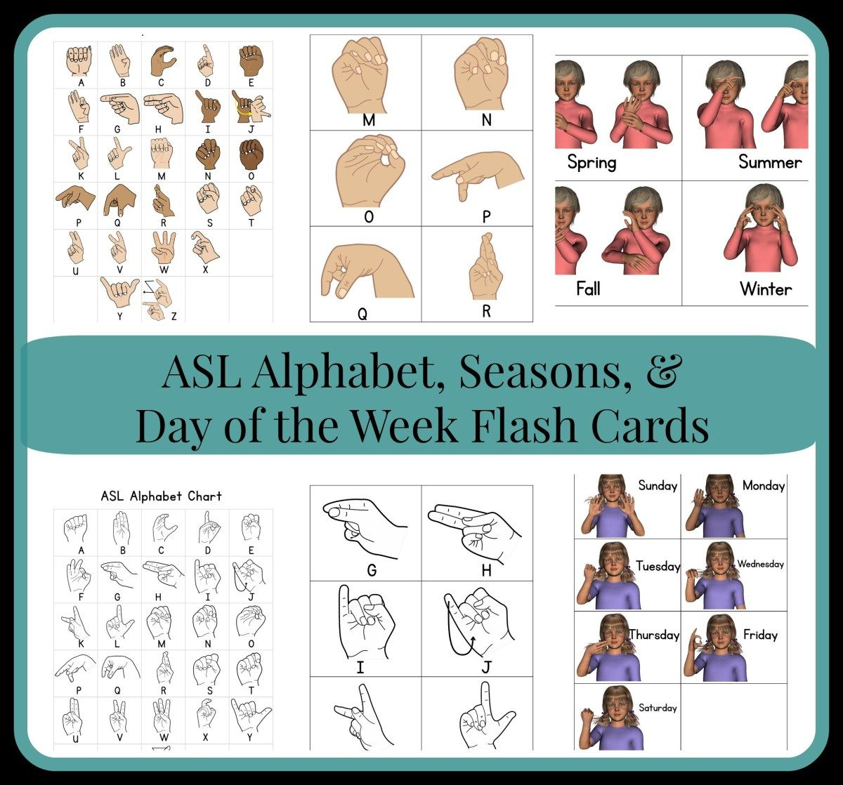 Asl Flash Cards