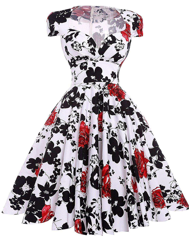 c8d730d581 YF Secret Women's Retro Style Casual Church Picnic Dress Size L at ...