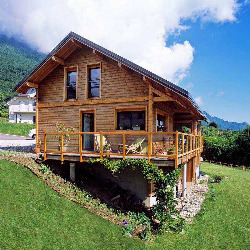 Tr s belle maison en ossature bois en haute savoie par scmc une jolie d monstration de la - Constructeur maison annecy ...