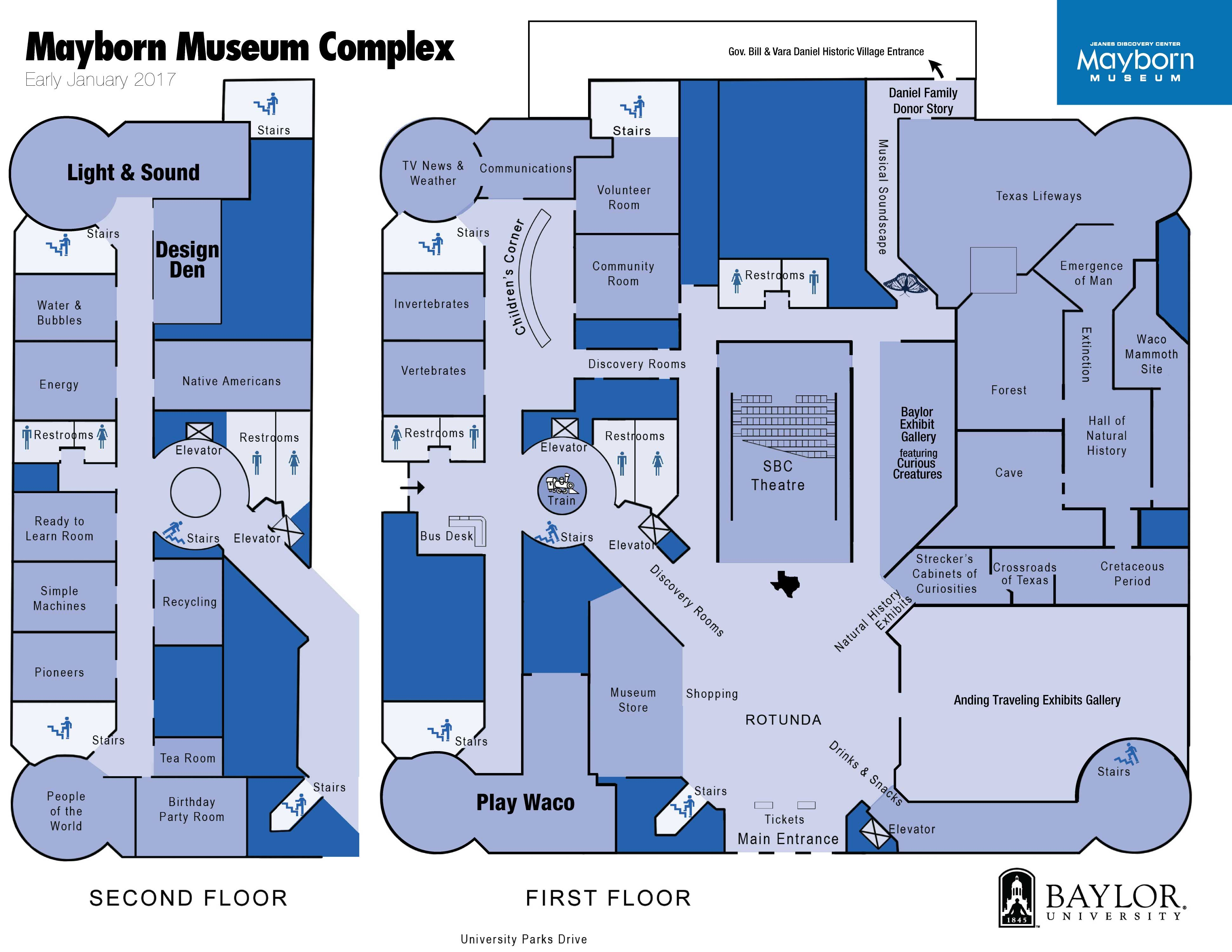 Mayborn Museum Complex Map