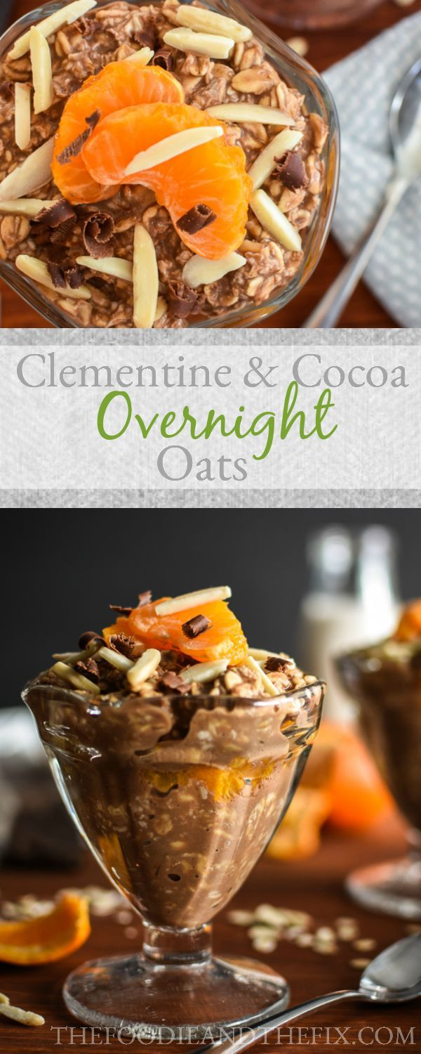 21 Day Fix Clementine & Cocoa Overnight Oats - indulgent flavors in this easy, healthy, make-ahead breakfast recipe.