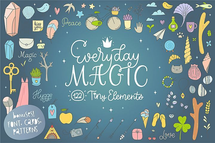 Download Everyday Magic Vectors and BONUSES | Creative illustration ...