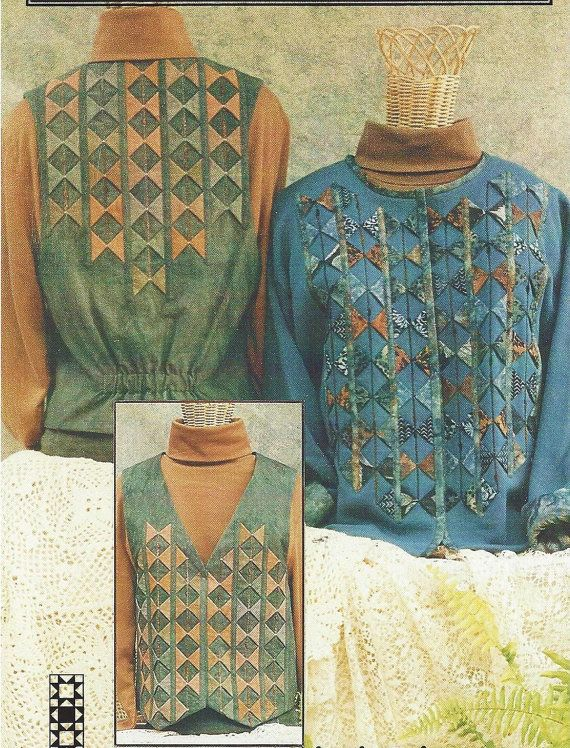 Points On Parade Quilted Vest Or Sweatshirt Jacket By