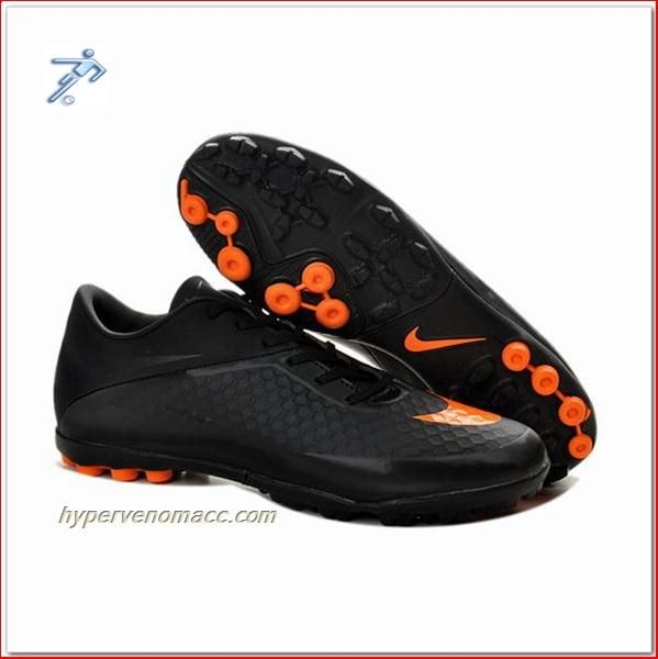 0db103b5e Football Cleats Payless Nike Hypervenom Phelon TF ACC Astro Turf Black  Orange
