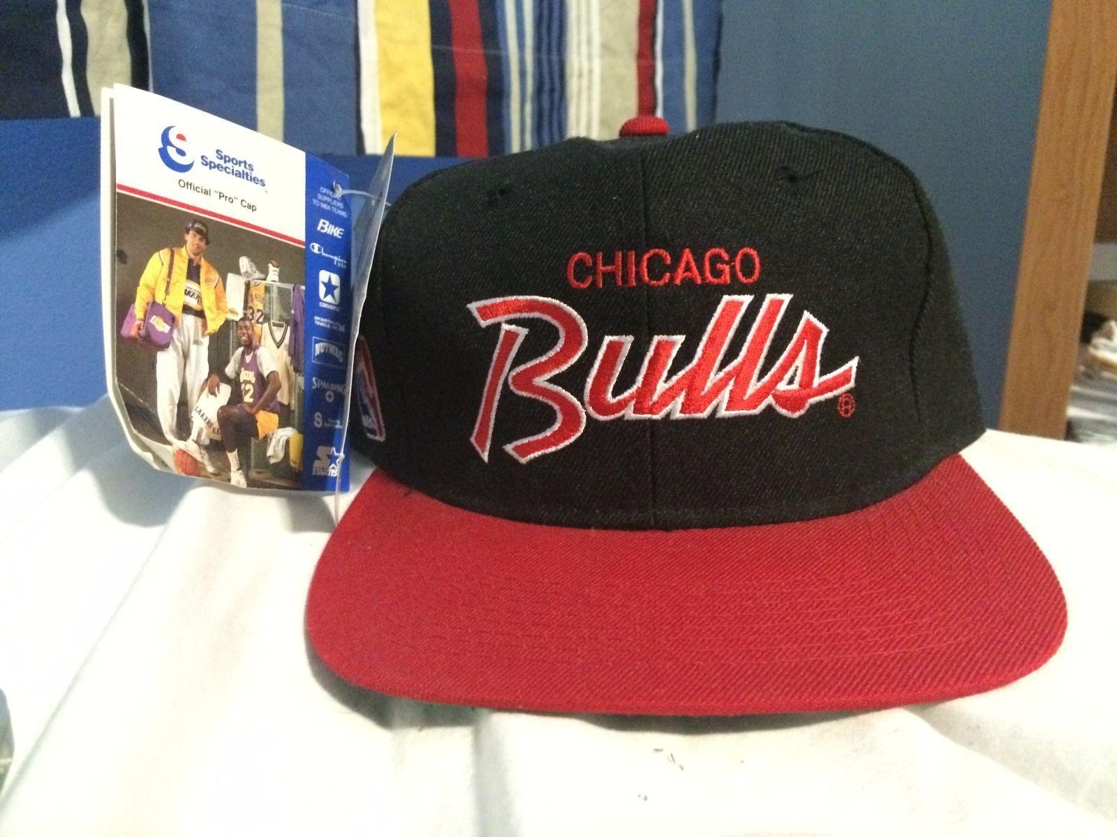5a6183603096f Vintage Sports Specialties Chicago Bulls Script Snapback Hat