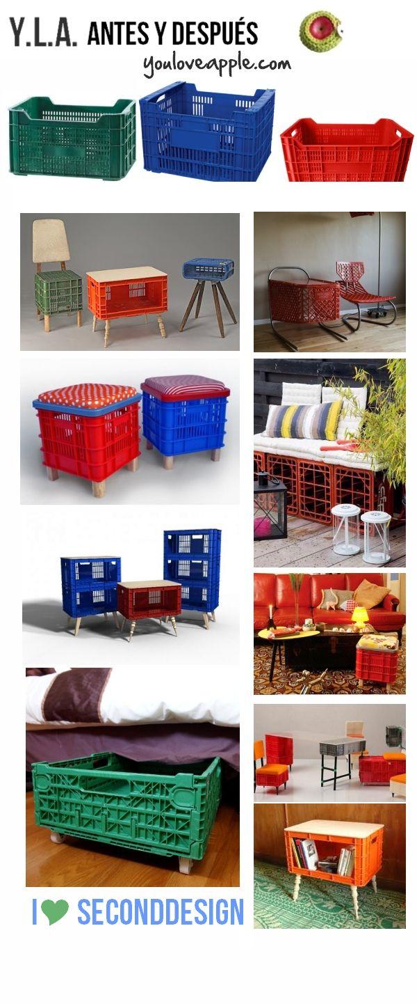 Antes Y Después Youloveapple Cajas De Plástico Muebles De Plástico Manualidades Recicladas