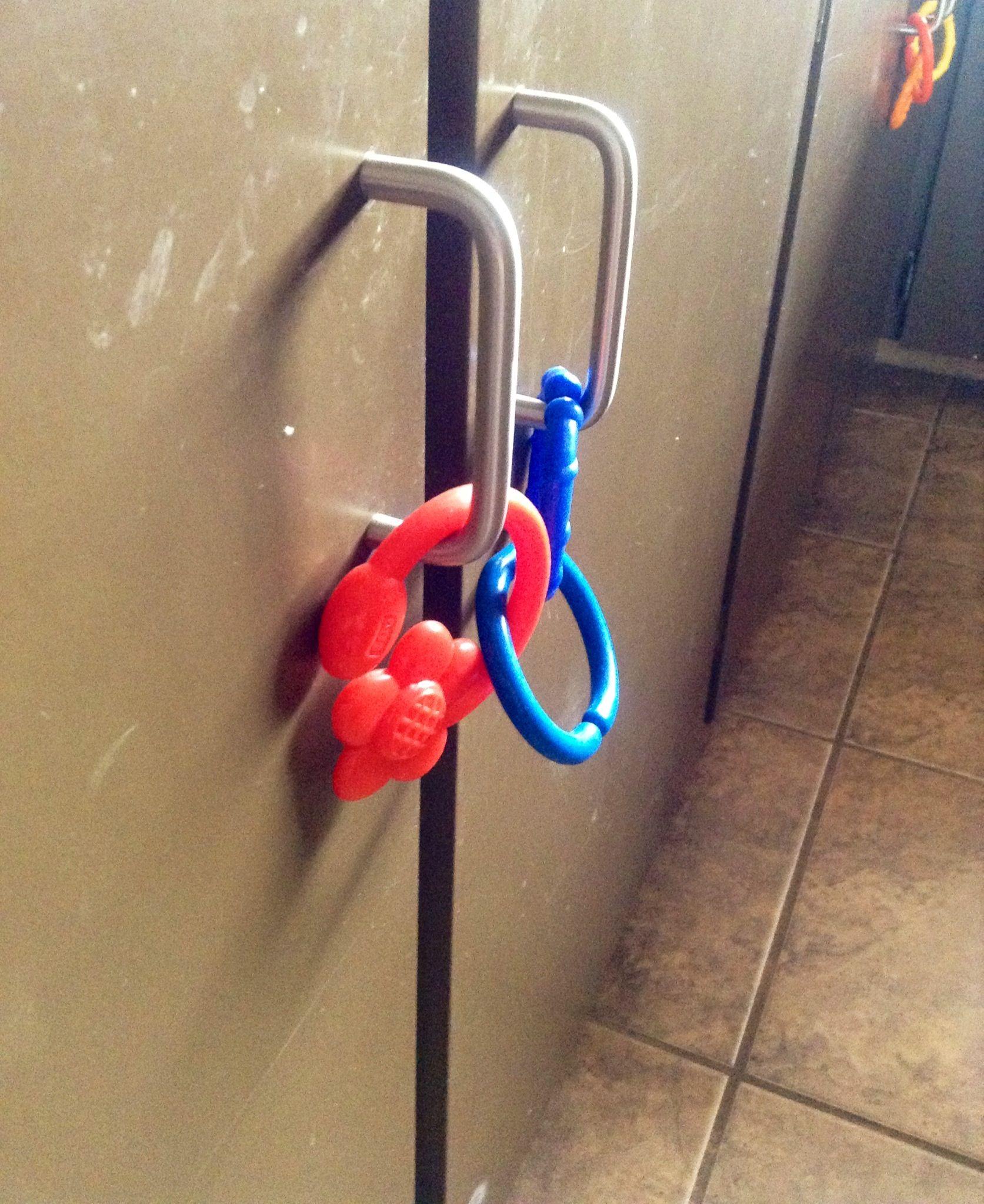 DIY child proofing cupboard doors. Easy, Brilliant. Baby