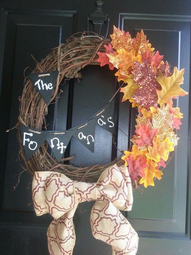 New fall front door wreath;)