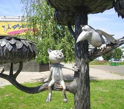 Скульптуры и памятники, посвященные кошкам | Стрит-арт ...