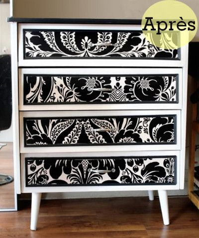 meuble transform before after pinterest meubles relooking et peinture grise. Black Bedroom Furniture Sets. Home Design Ideas