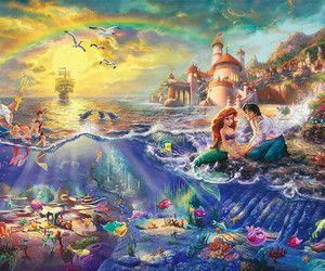 Disney The Little Mermaid 18x27 Thomas Kinkade | eBay