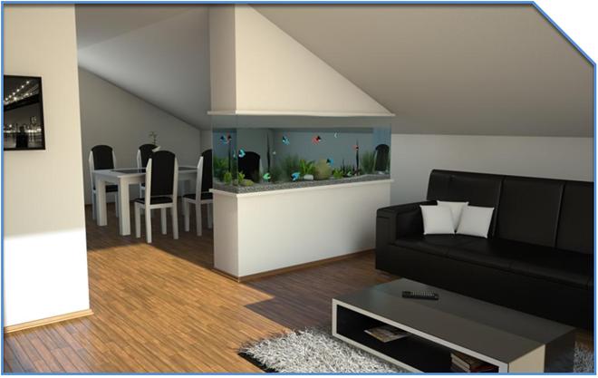home fish aquarium wohnzimmer pinterest raumteiler ausbau und wohnzimmer. Black Bedroom Furniture Sets. Home Design Ideas