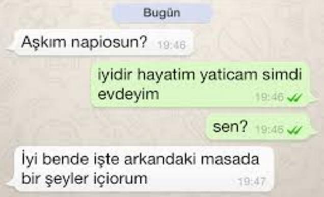whatsapp yazismalari facebook