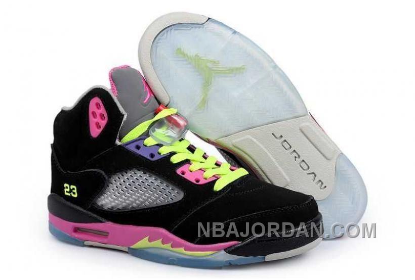 wholesale dealer ed97e 3b35e ... italy nbajordan nike air jordan 5 mens black pink yellow shoes.html nike  air jordan