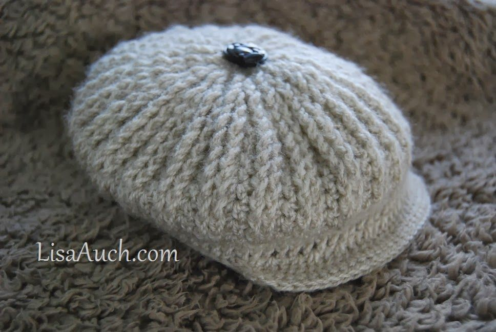 Cute as a Button Brimmed Cap Hat for Baby | Free crochet, Crochet ...