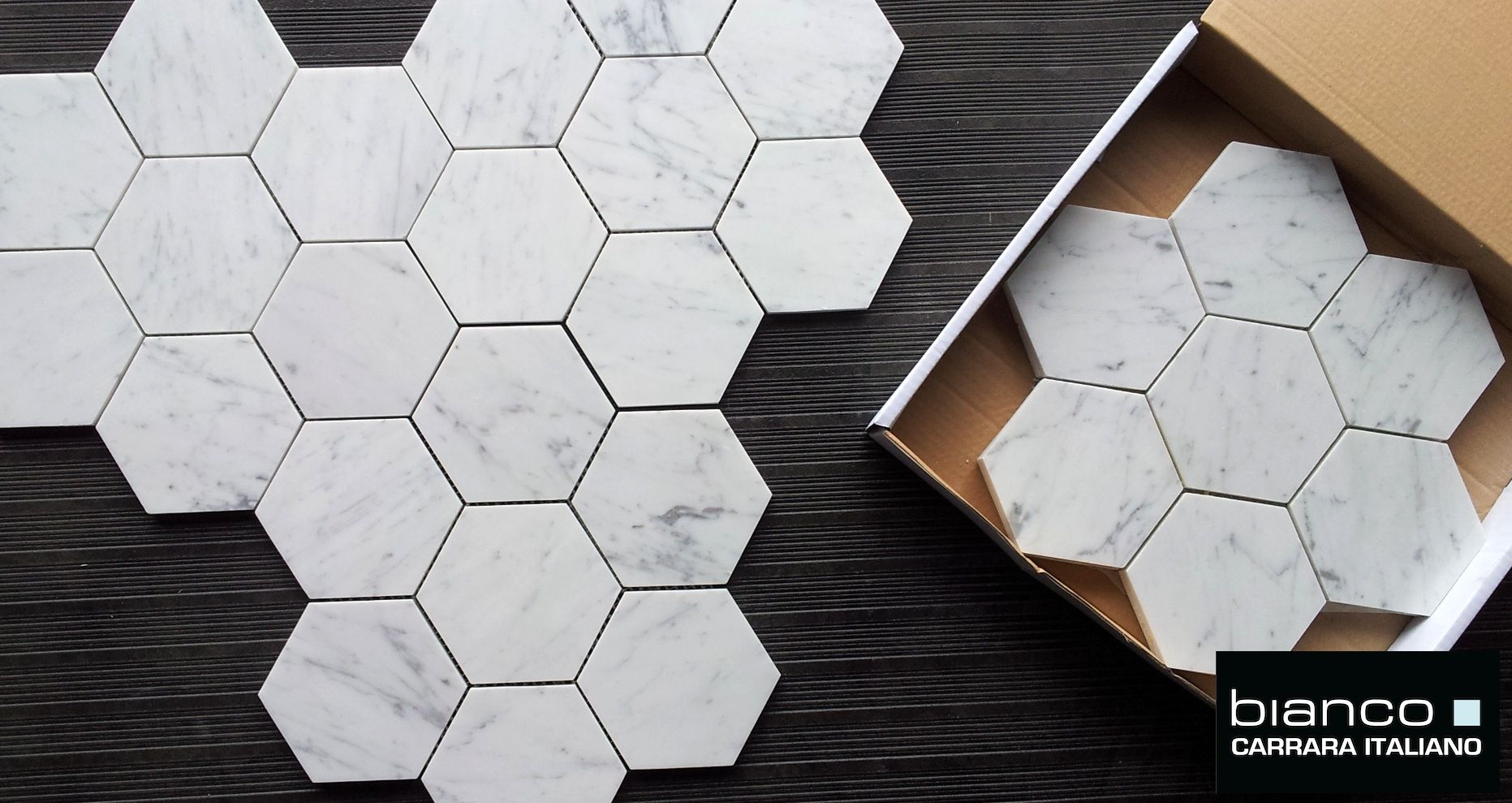 Carrara Bianco Hexagon Marble Mosaic Tile New House Pinterest - 5x5 mirror tiles