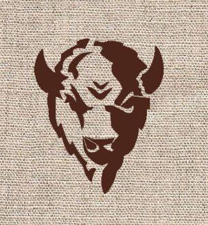 Buffalo Head Stencil. Think it would make a cute tattoo.