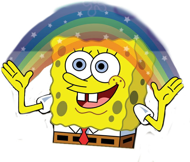 Freetoedit Spongebob Imagination Meme Funny The More You