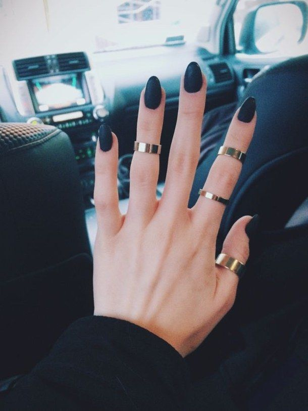 love the nails, and the rings are cute!