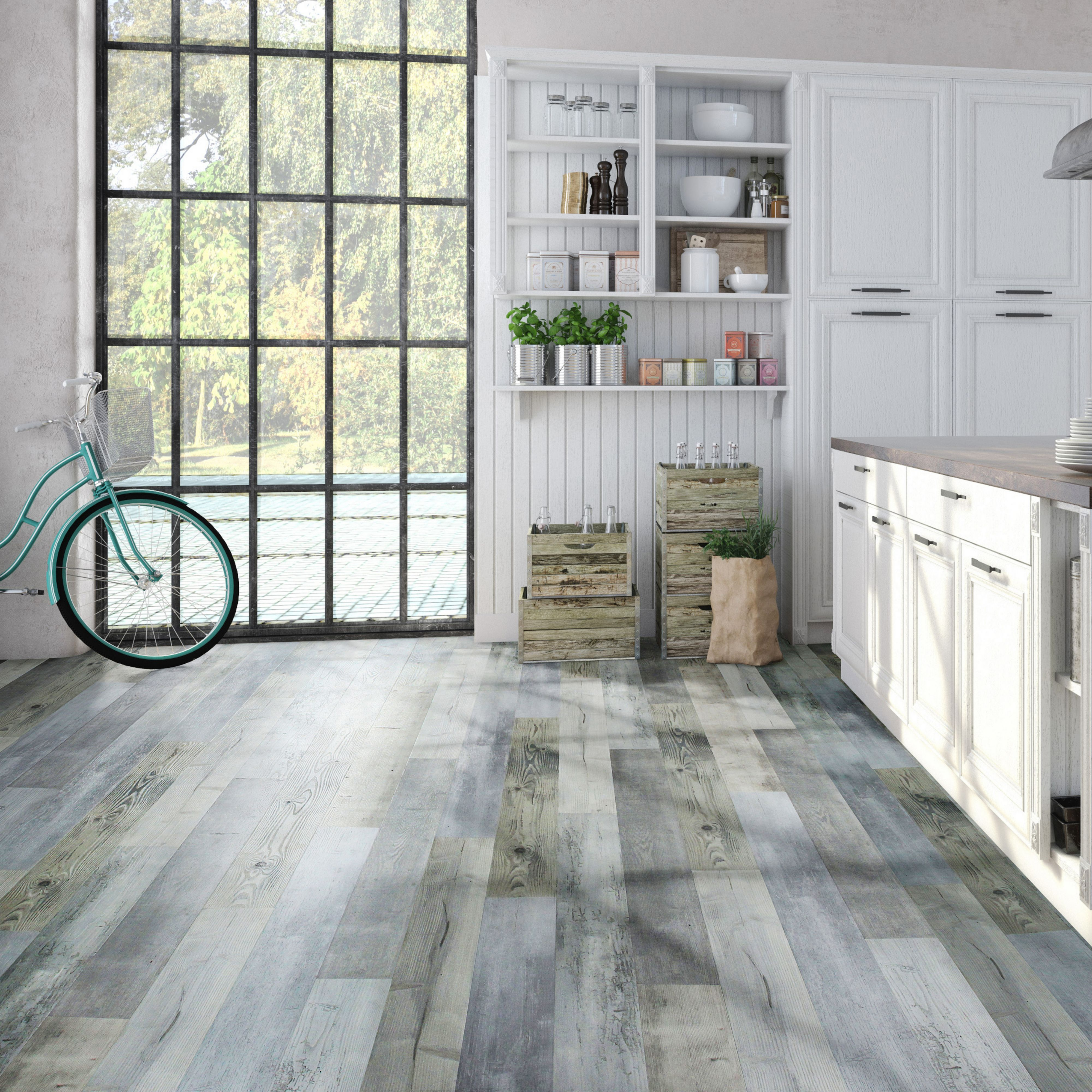 Light blue aged pine effect waterproof luxury vinyl click flooring light blue aged pine effect waterproof luxury vinyl click flooring 183m pack departments dailygadgetfo Image collections