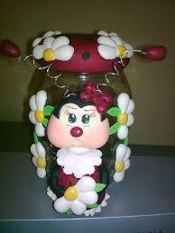 Resultado de imagen para frascos decorados con porcelana fria