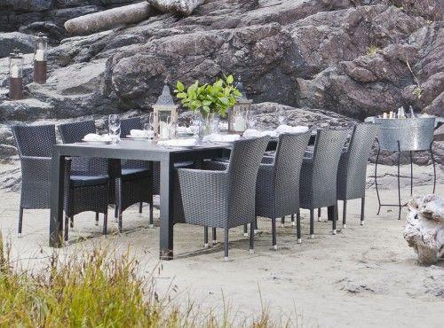 Livorno new york extendable table 8 kenzo chairs patio - Table de jardin new york toulon ...