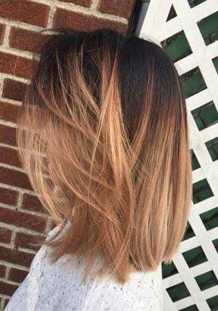 Balayage Auf Glattes Haar Hairs Balayage Hair Short Hair Styles