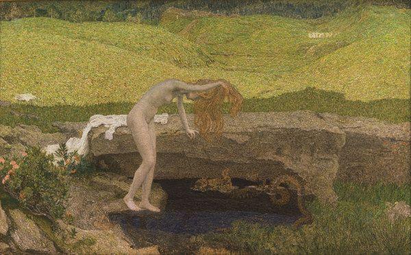 Bild:  Giovanni Segantini - Giovanni Segantini, Die Eitelkeit