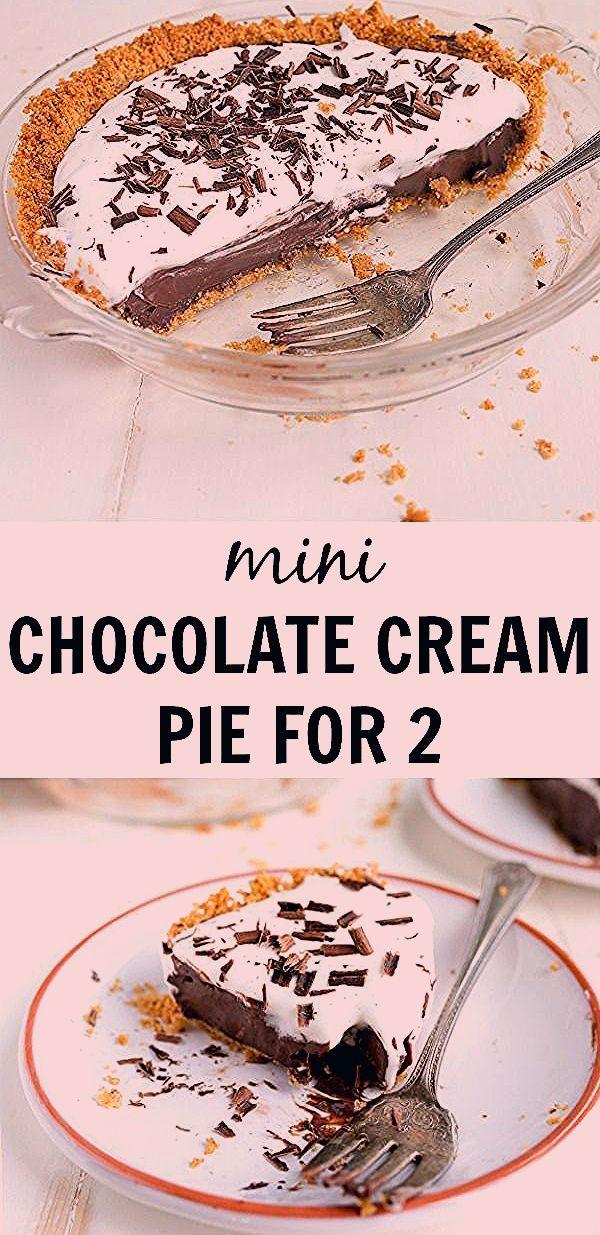 Chocolate Cream Pie Recipe with Graham Cracker Crust | Dessert for Two