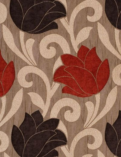 Fabric Shower Curtains Curtain Details For Lucille Red Brown