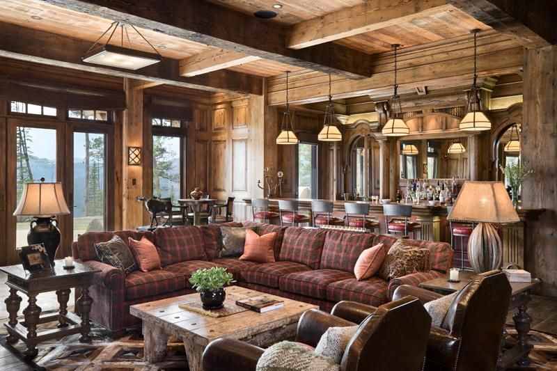 Cozy Country Rustic Game Room By Jerry Locati Man Cave With Games And Pool Table