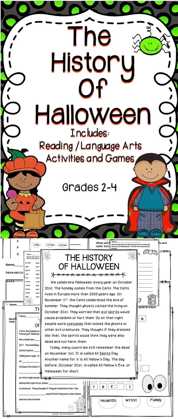 Halloween Happy Halloween! Teach children the history of  Halloween using this fun filled Halloween supplemental resource.  #halloween