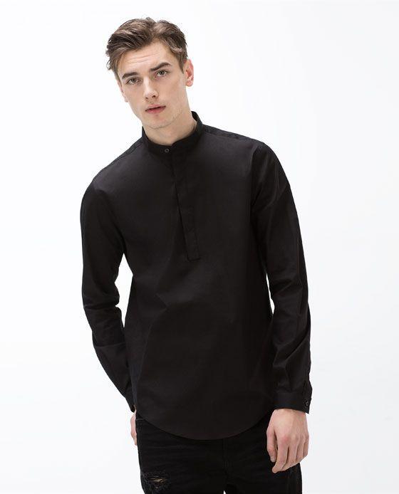 c3967b78 Image 2 of MANDARIN COLLAR SHIRT from Zara | Men's Fashion in 2019 ...