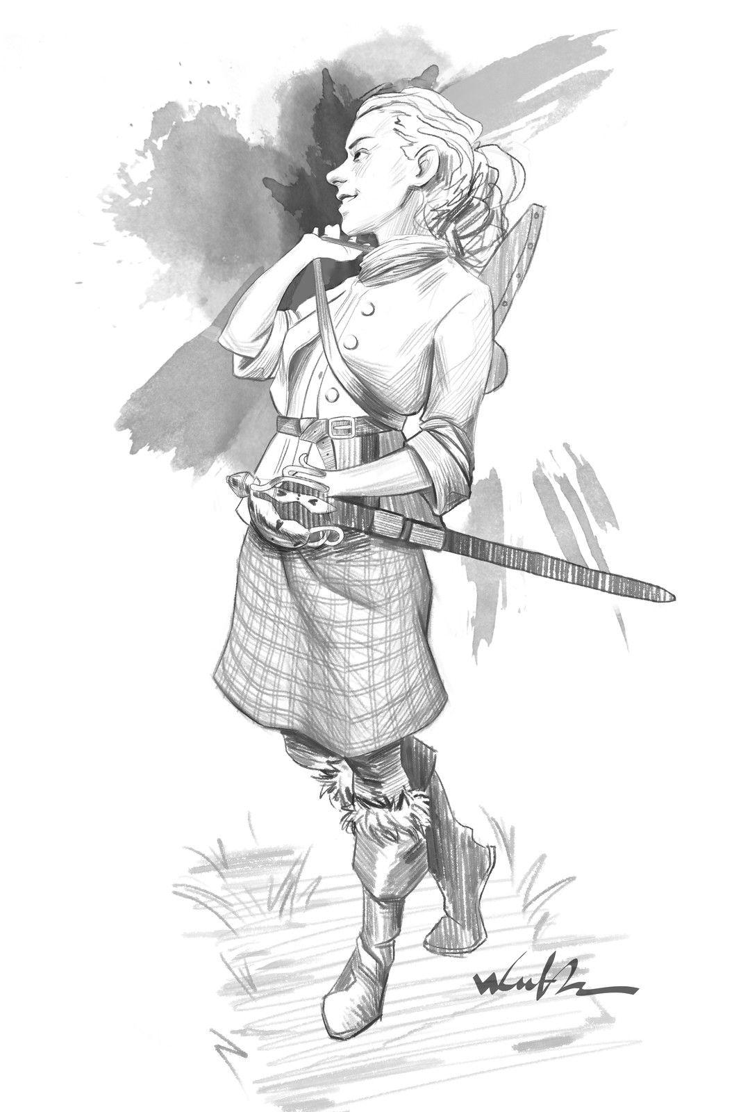 The Lady of Lallybroch, Wulfr _ on ArtStation at https://www.artstation.com/artwork/1EeKe
