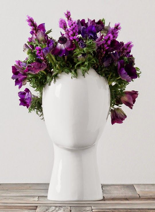 Wig Vase From Idilli Flora Pinterest Wig