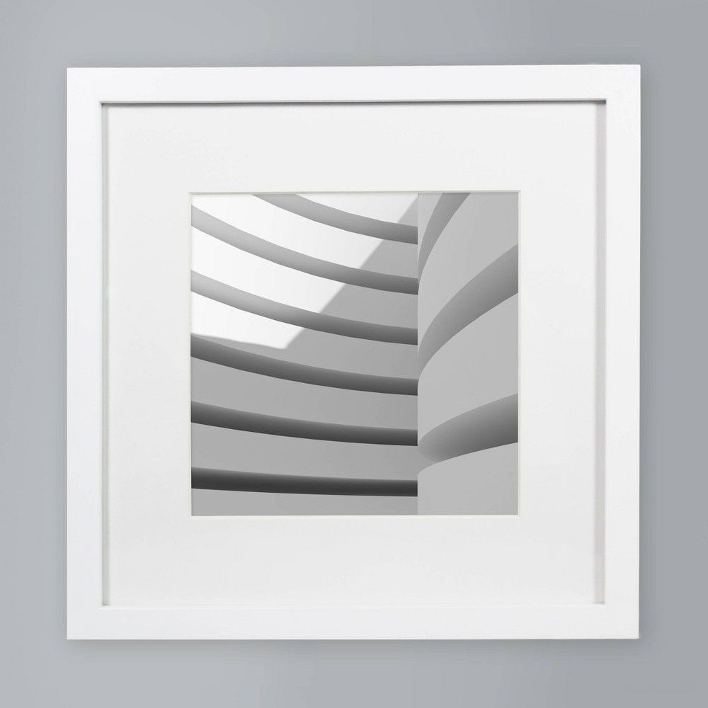 8 X 8 Single Picture Matted Frame White Made By Design In 2020 Matting Pictures Made By Design Frames On Wall