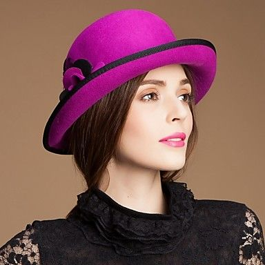 Hot-Selling Wool Women Wedding Outdoor Party Hat With Feather(More Colors) a3bccf6928b